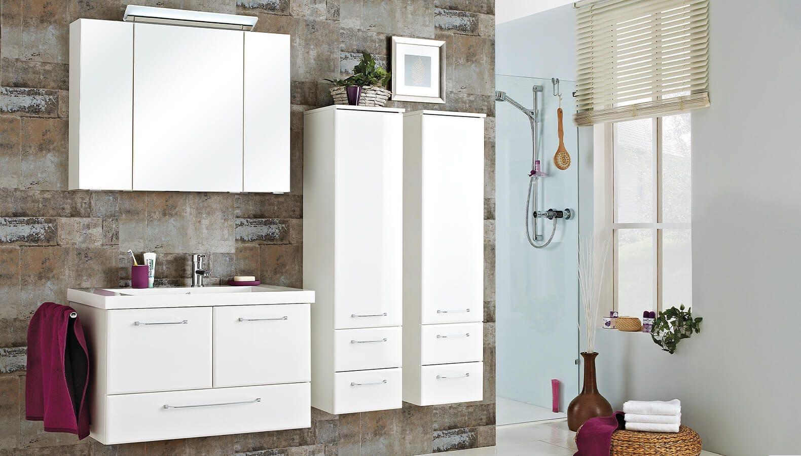 Badezimmer Filino Weiß Möbel mit echtem Trend Faktor   kika.at