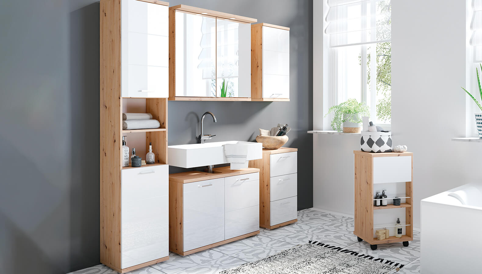 Badezimmer Sky Möbel mit echtem Trend Faktor   kika.at